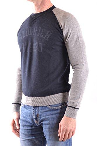 Maglione Cotone Woolrich Uomo Mcbi314042o Blu Swn08aq
