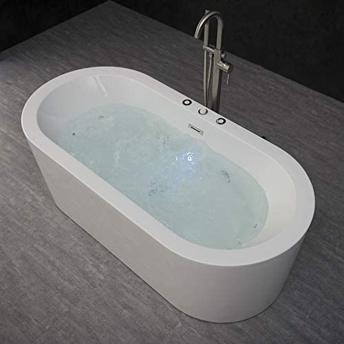 Woodbridge b-0030 bts1606 67 x 32 Whirlpool Water Jetted and Air Bubble Freestanding Bathtub, B-0030 BTS1606