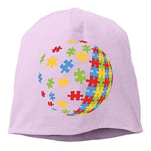 AOOPK Headscarf Autism Puzzle Ball Pattern Hip-Hop Knitted Hat for Mens Womens Fashion Beanie Cap ()