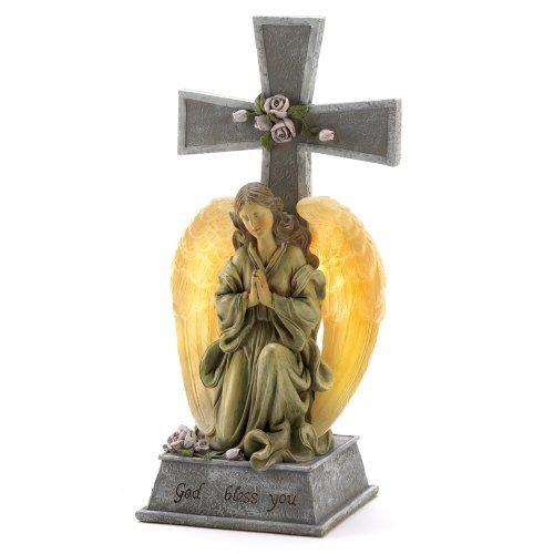 Solar Lighted Angels Crosses