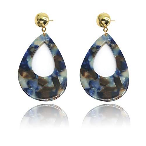 Acrylic Earrings Drop-Shaped Long Earrings Acetate Earrings ()