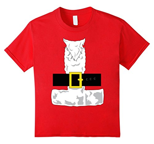 Kids SANTA CLAUS COSTUME Outfit Christmas Shirt | Xmas T-Shirt 4 Red