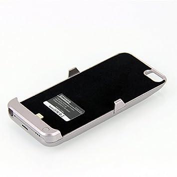 iPhone SE carcasa de batería, cargador portátil para iPhone 5SE/iPhone SE 2016, Protectiv externo 4200 mAh funda de función atril y carga batería.
