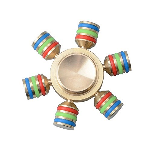 camande-6-sided-edc-hand-fidget-spinner-brass-rainbow-edc-focus-toy-stress-reducerdetachable-bearing
