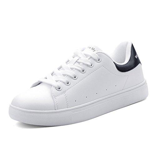 para Deporte Zapatos Zapatos Rosa roja o Blanco Color Estudiante Tama Planos Ocasionales Mujer SHI de 36 de Zapatillas Moda con de Cordones qExvfFwt