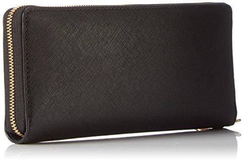f09b47e81244 Michael Kors Women's Jet Set Travel Leather Continental Wallet Wristlet -  Black by Michael Kors (