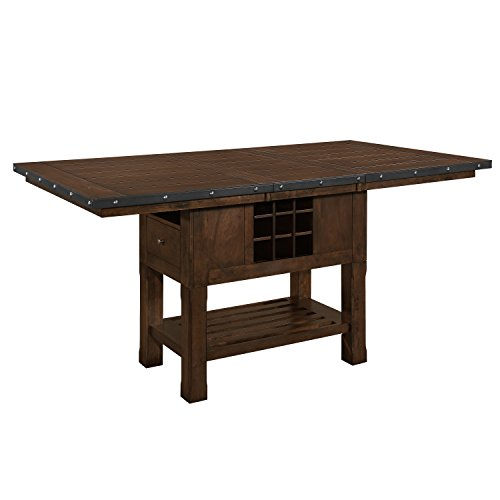 Homelegance 5400-36XL Leaf Top & Storage Base Counter Height Table, 42