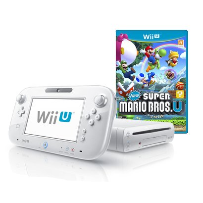 Wii U 8GB Basic Set Console + New Super Mario Bros. U – White (Nintendo Wii U)