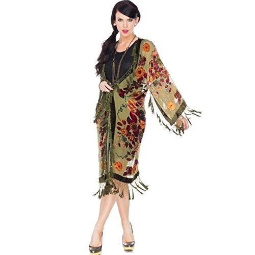Aris A. Women's Mystic Garden Velvet Burnout Kimono with