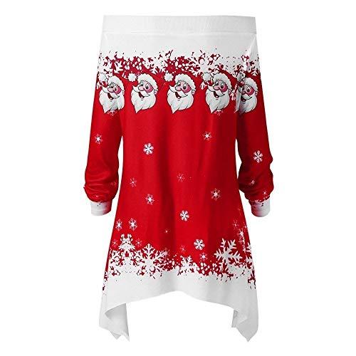 robe Santa Deer Pour Longues À Noël Imprimée Manches Bretelles Claus And Femmépaule Mini Lianmengmvp Sans Rouge De B5BFq