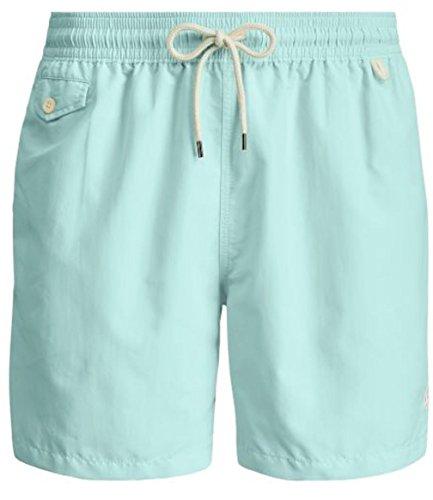 - Polo Ralph Lauren Mens Traveler Pony Logo Swim Trunk Shorts (XL, Aqua)