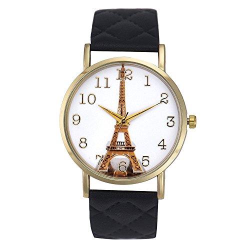 Best Deal Women Quartz-Watch Eiffel Tower Pattern Wristwatch - G Shock Compatible Tower