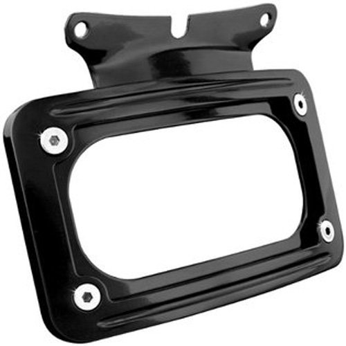 Kuryakyn 3147 Black Curved License Plate Mount (Kuryakyn Curved Plate Frame License)