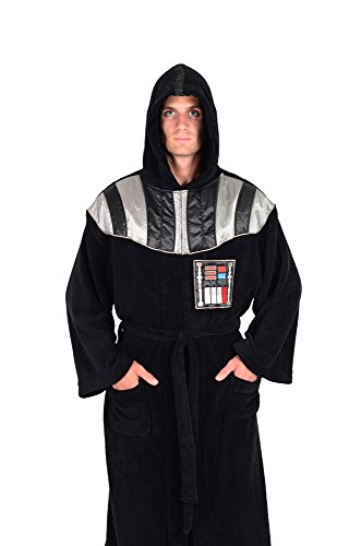 Star Wars Darth Vader Uniform Fleece Bathrobe Big and Tall Black (Bathrobe Funny Men)