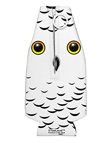 TooLoud Snowy Owl Cute Animal Face Collapsible Neoprene Bottle Insulator All Over Print -