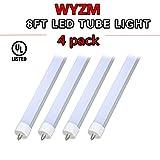 40W 96'' T12 8ft LED Tube Light,F96T12 8' LED Fluorescent Tube Replacement,120V and 277V Input, 5500K Daylight White,4000LM Frost lens Super Bright (4PCS 5500K Daylight White)
