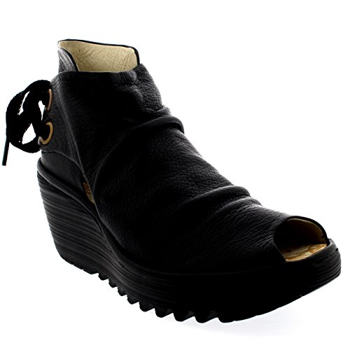 Fly London Womens Yema Black Wedge - 38 by FLY London