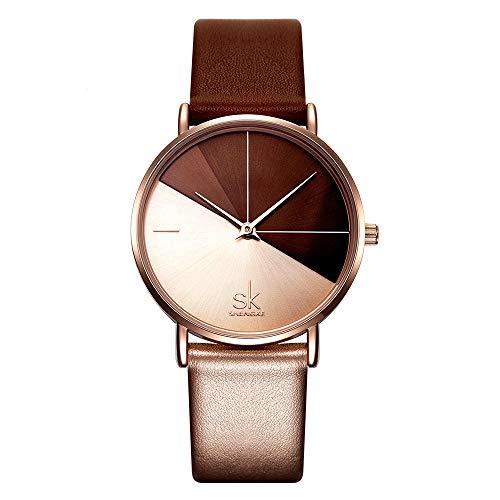 SHENGKE Creative Simplicity Women Watch Genuine Leather Elegant Women Watches Ladies Business Wristwatch - Wristwatches Ladies