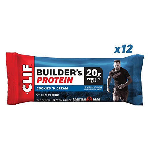 (CLIF BUILDER'S - Protein Bar - Cookies and Cream - (2.4 Ounce Non-GMO Bar, 12 Count))