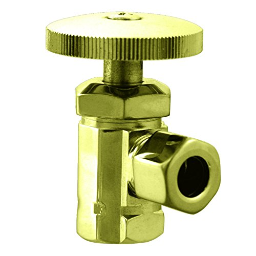 Westbrass D106-03 IPS Angle Stop, Polished Brass
