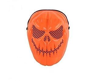 VPlus Máscara de calabaza de Halloween, diseño de calavera, para fiestas, disfraz,