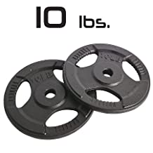 10lbs Cast Iron Grip Standard Plates 1 Inch