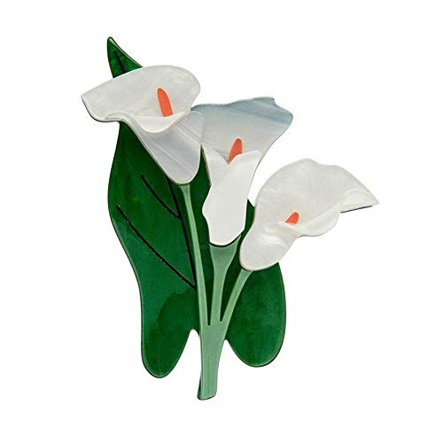 Vintage Style Jewelry, Retro Jewelry Erstwilder Beauty Blooms Brooch Lily $29.95 AT vintagedancer.com