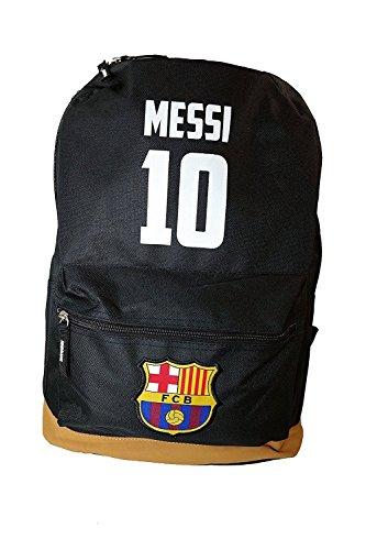 FC Barcelona backpack school mochila bookbag cinch shoe bag official (Brown Messi)