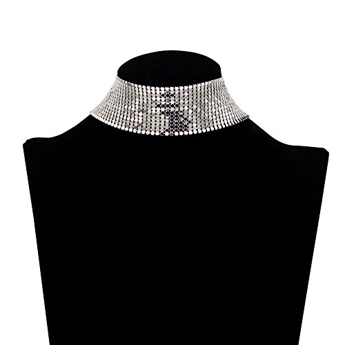 Boosic Jewelry Crystal Glitter Necklace