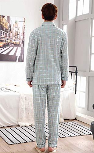 Homme Pour Longues Ensemble Pyjama Manches À Maison V Pyjamas De Nuit Hellgrau La En Mâle Coton F5wwqpdP