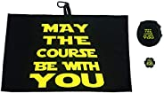 Giggle Golf May The Course Be with You Golf Waffle Towel, Poker Chip & Ball Cleaning P