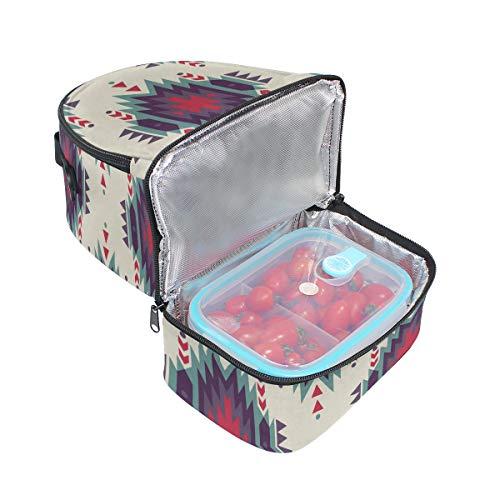 de floral de el escuela para almuerzo para étnico aislamiento con vintage la estilo con Bolso pincnic con correa ajustable hombro estampado pndqxAIC