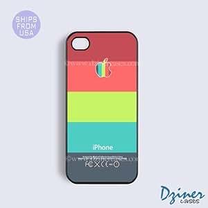 LJF phone case iphone 6 plus 5.5 inch Tough Case - Coral Blue Multi Stripes Design iPhone Cover