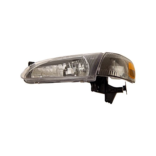 Fits 1998-2000 Toyota Corolla Crystal Headlight Black Amber With Corner - Crystal Headlights 98 Anzo