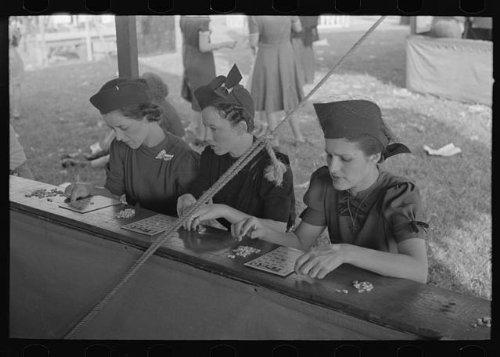 Photo: Women playing bingo,a very popular game at state fair,Donaldsonville,Louisiana