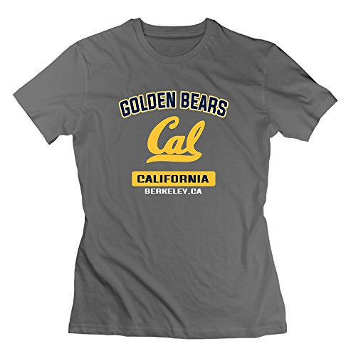 Cal Bears Campus Logo Women's Cotton T-shirt DeepHeather