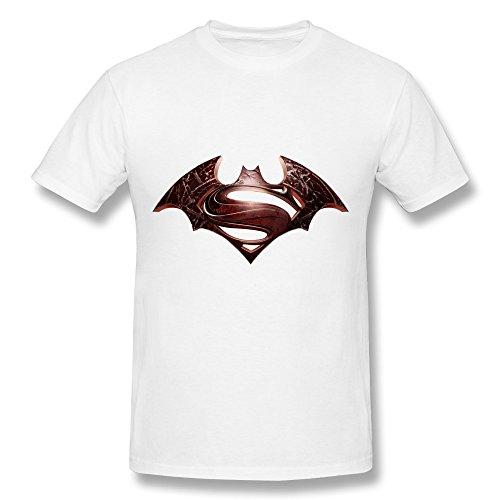 HUBA Men's Tshirt Batman Vs Superman The Dark Knight Returns White Size M