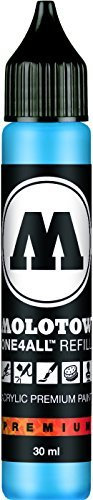 Molotow ONE4ALL Acrylic Paint Refill, For Molotow ONE4ALL Paint Marker, Shock Blue Middle, 30ml Bottle, 1 Each (693.161)