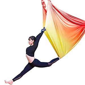 DSAEFG Color Sport Yoga Hamaca, antigravedad Air Yoga Hamaca ...