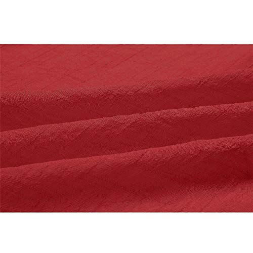 Hiver Unie Femme Couleur Longues Women Longues DContract LaChe Manches Tops for Dames Manteau Rouge Manches Chemisier pSwnF67q