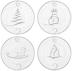 Amazon.com | Noritake Wave Holiday Appetizer Plates ...