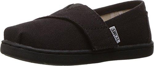 [TOMS Kids Unisex Alpargata 2.0 (Infant/Toddler/Little Kid) Black Canvas Shoe] (Black Kids Shoes)