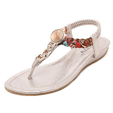 Heel Wedge CN36 Pink US6 Rose UK4 Gold Dress Open Slingback EU36 Toe Shoes Black Silver Sandals Women's Eq5CAa