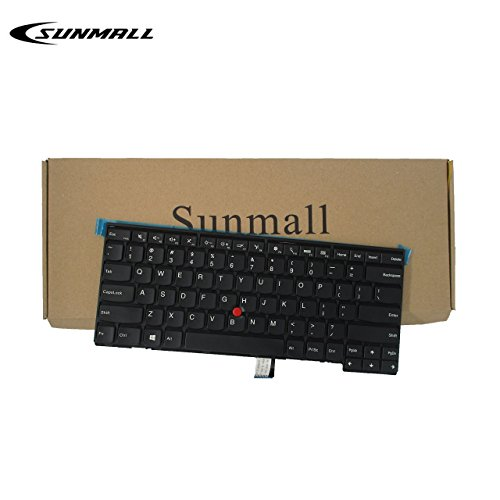 SUNMALL Keyboard Replacement with Frame for Lenovo ThinkPad T431 T431S E431 T440 T440P T440S E440 L440 T450 T450S T460 T460P L450 T440E Series Laptop US Black Layout(6 Months Warranty) ...