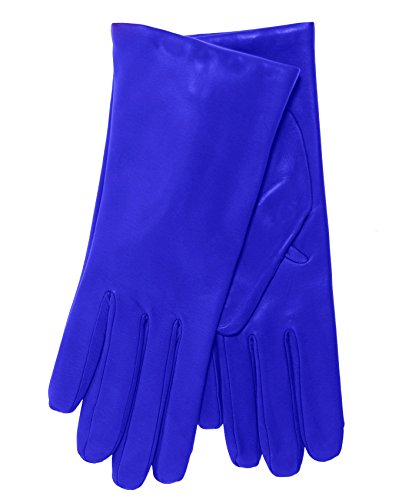 - Fratelli Orsini Everyday Women's Italian Cashmere Lined Leather Gloves Size 8 Color Royal Blue