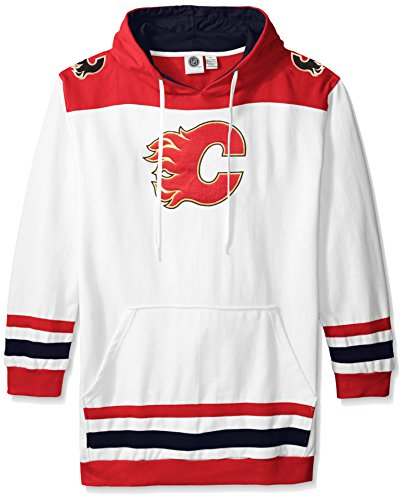 Profile Big & Tall NHL Calgary Flames Men's Double Minor Fleece Hoodie, 3X, Red