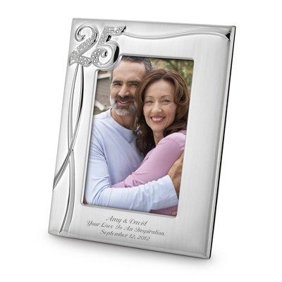 Things Remembered Personalized 25 Year Anniversary 5 x 7 Frame, Picture Frame with Engraving Included
