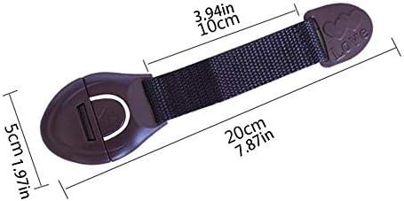 Mouchao Kids Safe Drawer Lock Wardrobe Drawer Fridge Buckle Door Adhesive Lock