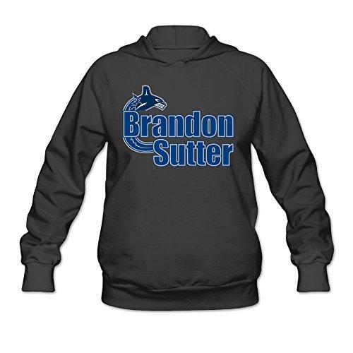 CEDAEI Women's Hockey Player BSutter Hoodies Sweater Without Kangaroo Pocket XX-Large Black