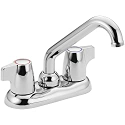 Moen 74998 Chateau Two-Handle Low-Arc Laundry Sink Faucet, Chrome